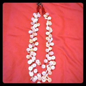 Seashell tiered necklace